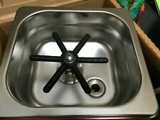 """Countertop Frothing Glass Pitcher Rinser / Washer 6.5"""" X 7"""" X 2.5"""" Stainless"""