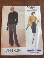 Vogue American Designer Anne Klein Sewing Pattern 2355 UNCUT Jacket Skirt 6-8-10