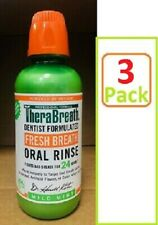 Therabreath Mild Mint Oral Rinse Liquid 16 Oz for bad breath, dry mouth (3 Pack)