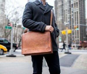 Genuine Leather Shoulder Messenger Handbag Satchel Briefcase Laptop Business A