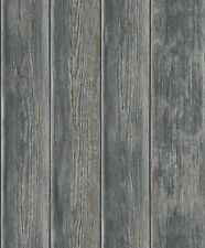 Realistic Old Wood Wooden Panel Wall Muriva Quality DESIGNER Wallpaper J86809