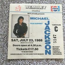 Michael Jackson ticket Wembley Stadium 23/07/88 #5147  Bad tour