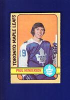 Paul Henderson HOF 1972-73 O-PEE-CHEE OPC Hockey #126 (VG+) Toronto Maple Leafs