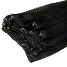 """24"""" 100% Real Thick Remy Human Hair Extensions Clip in Weft Brazilian Hair 120gr"""