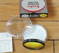 49 mm Filtre Kenko Jaune (Yellow) Y2, neuf (new)