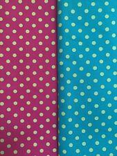 Fabric bundle 2 X large 100% cotton remnants. Michael Miller Multi spots