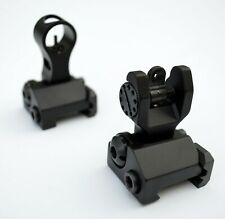 Rifle Back up Metal Iron Sights BUIS 2 Piece Front and Rear Flip up Picatinny
