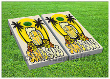 Cold Refreshing Beer Fans Cornhole Boards BEANBAG TOSS GAME w Bags Set 416