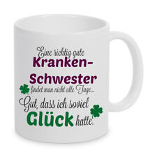 Eine gute Krankenschwester.. Tasse Kaffeetasse Kaffeebecher Geschenk Weihnachten