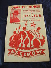 Partition Amour et lampions  Porvida de A. T. Cekow marche 1955