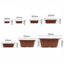 5Pcs Plastic Flower Pot Square Pots Balcony Nursery Bonsai Bowl Planter Basin