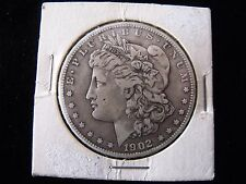 1902 MORGAN DOLLAR, very fine COIN, ORIGINAL CHECK OUT OUR OTHER DOLLARS