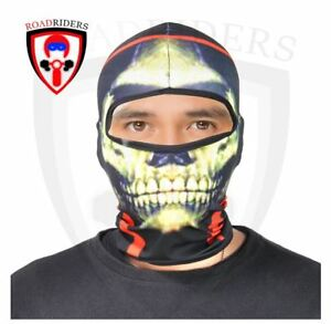 Road Riders Motorcycle Full Face Protective Mask - BLACK/GREEN