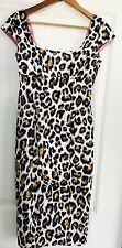 CHARLIE BROWN WOMENS ANIMAL PRINT SEXY DRESS LINED WORK PARTY SZ 8