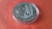 """20 DOLLAR/KIRIBATI """"Olympiade 1992"""" - SEGLER - 1992 (925/1000) / Auflage 40.000"""