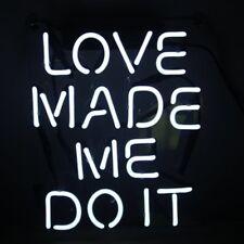 "New Love Made Me Do It Wall Decor Acrylic Neon Light Sign 14"""