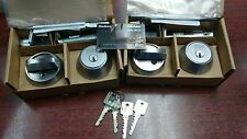 2 Medeco M3 biLevel deadbolts keyed alike with 4 Keys and Card, New M3 design