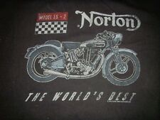 Norton Motorcycles Model ES-2 Worlds Best Racing Classic Black T Shirt Large