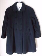 Girls Young Gallery Winter Dress Coat Long Navy Velvet Wool Dressy Formal size 6