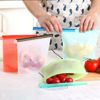 Reusable Silicone Food Storage Bags Fresh Bag Sandwich Fruit bags 50 OZ/1500ML
