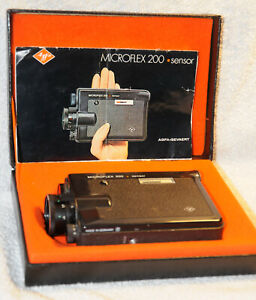 Agfa MICROFLEX 200 sensor vollautomatische Super-8-Reflexcamera / Anleitung /OVP