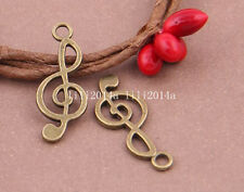 30pc Antique Bronze music Pendant Charms Accessories Bead  wholesale PL301