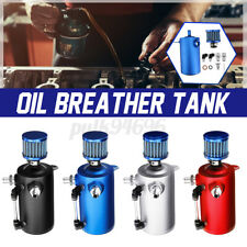 Car Racing Engine 0.5L Oil Breather Tank Catch Can Reservoir & Filter Aluminium