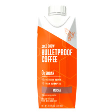 Bulletproof Cold Brew Mocha Coffee with Brain Octane Oil 11 oz ( Pack of 12 )
