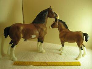 lot O,vintage toy,Breyer Reeves model horse,Mare & pony set,VIN Sept 13,rare,old