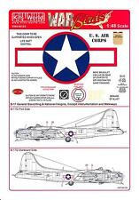 Kits World Decals 1/48 B-17G FLYING FORTRESS Red Stars & Bars with Stencils