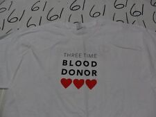 XL- NWOT Life stream 3 Time Blood Donor T- Shirt