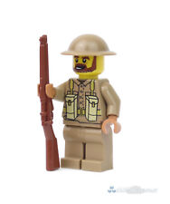 Ww2 Custom soldado británico, impresas con Brickarms de lego ® partes