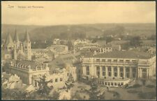 Postkarte Spa -Kursaal mit Panorama, s/w, um 1905, ungelaufen