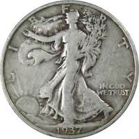1937 S Liberty Walking Half Dollar AG About Good 90% Silver 50c US Coin
