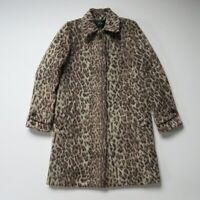 NWT J.Crew Topcoat in Snow Double Leopard Wool Coat 0