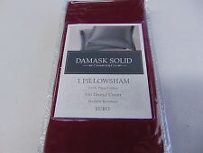 Damask Solid By Charter Club 1 Pillow Sham 500 Thread Count Euro New Gm639