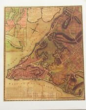 New York City Historic Map Reproduction of Early Plan for New York City Area