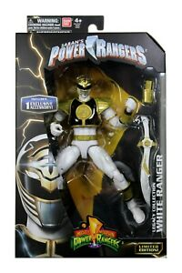 """Power Rangers Legacy Collection White Ranger Limited Edition 6.5"""" Figure Bandai"""