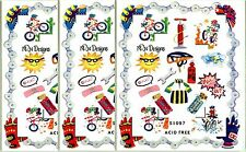 NRN Designs CYCLING Bicycle Scrapbook Stickers 3 Sheets