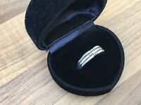 Gorgeous Marked Sterling Silver Size M 1/2 Band Ring 2.39gr
