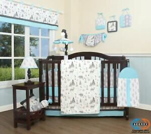 13PCS New Woodland Forest Deer Baby Nursery Crib Bedding Sets  Holiday Special