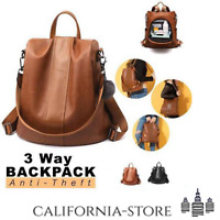Soft Leather Backpack for Women Antitheft Ladies Waterproof Fashion Travel Rucks