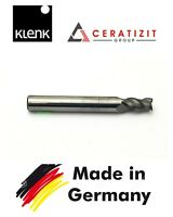 klenk Solid Carbide End Mill 7mm Shank Dia 8MM TiAIN Coat 3-Flute