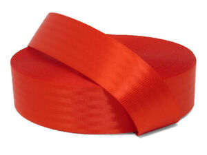 Red 11 Panel Polyester Webbing | Seat Belt Webbing 47mm | Soft and very strong