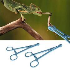 Terrarium Plastic Tweezers Tongs Feeding Tool Fish Snake Reptile 19cm Gift