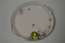 Nippon Trinket Dish Purple Flowers with Gold Detail