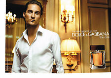 PUBLICITE ADVERTISING 025  2008  DOLCE & GABBANA   parfum homme ( 2p) THE ONE