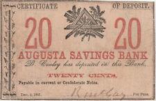Augusta (Georgia) Savings Bank Twenty Cents