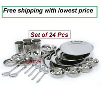 Stainless steel dinner set of 24 pcs -Free Shipping and lowest price india