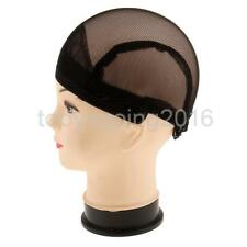 Elastic Hair Wig Cap Weaving Mesh Net Making Wigs Snood Hairnet Band Black